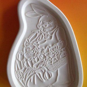 Longaberger Easter Bunny Rabbit Cookie Mold NEW